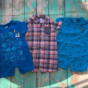 Baby Boys Set of 3 Rompers